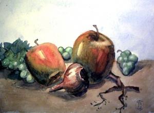 Apfel und Zwiebel