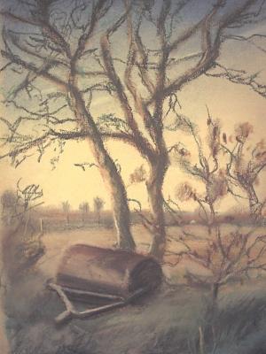 Apfelbaum mit Walze