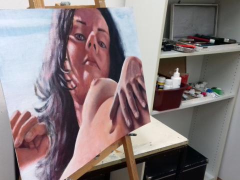 Impressionen aus dem Atelier und dem Flensburger Malstudio (VHS)