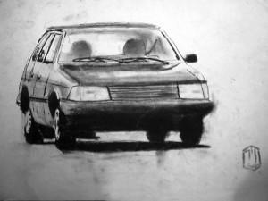 Auto 4 Talbot Skizze