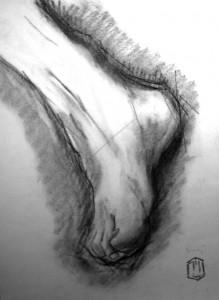Fuß Skizze 14