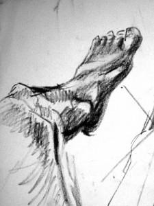 Fuß Skizze 5