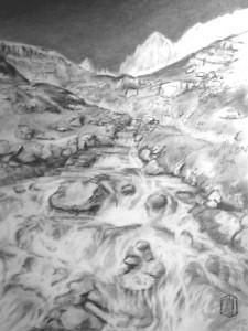 Gebirgsbach Skizze 1
