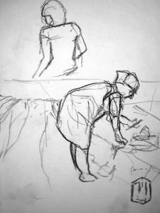 Morgenstich Skizze 3 (Mutti, Tina)