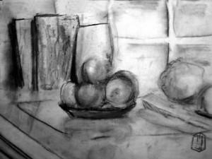 Obst Stilleben Skizze 11