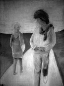 Ruth Farbskizze