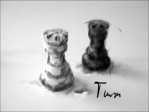 Schach 3 Turm 1