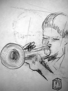 Trompeter Skizze 2