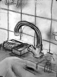 Wasserhahn Skizze 6