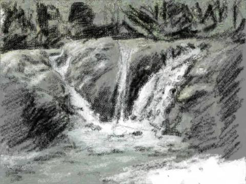 Waterfal (0) sektch