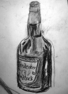Bierflasche Skizze