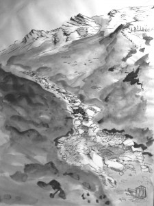 Gebirgsbach Skizze 3