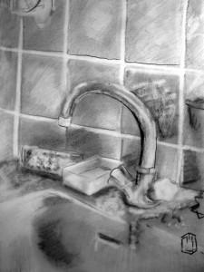 Wasserhahn Skizze 7